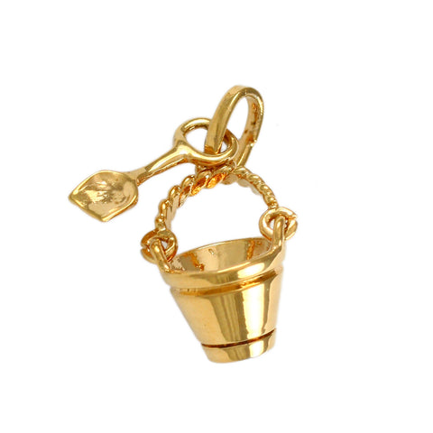 "1"" Sand Pail & Shovel Charm Cluster - Lone Palm Jewelry"