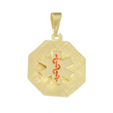 "7/8"" Medical ID Octagon - Lone Palm Jewelry"