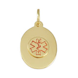 "3/4"" Oval Medical ID - Lone Palm Jewelry"