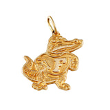"14952 - 1/2"" Classic Fighting Albert Gator Pendant - Lone Palm Jewelry"