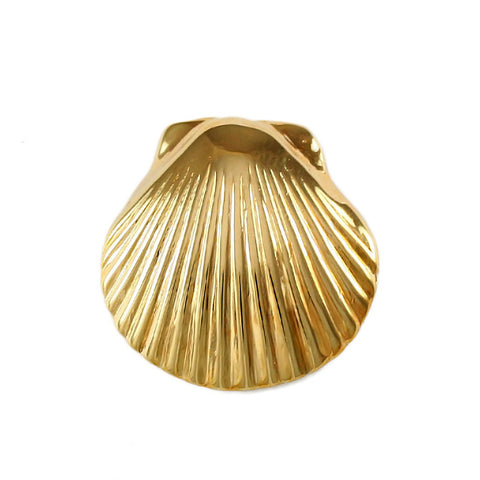 "3/4"" Scallop Shell with Hidden Bail - Lone Palm Jewelry"