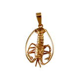 "15032 - 1 1/8"" Florida Lobster Pendant - Lone Palm Jewelry"