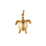 "15042 - 7/8"" Hawksbill Turtle - Lone Palm Jewelry"