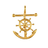 "1 1/4"" Anchor & Movable Ship's Wheel - Lone Palm Jewelry"
