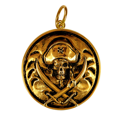 15209 - Pirate and Crossed Swords Medallion