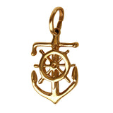 "15230 - 3/4"" Anchor with Ship's Wheel Pendant"
