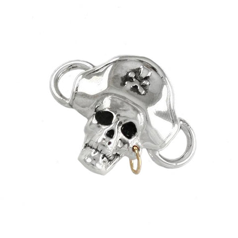 Pirate Skull PopTop with 14kt Gold Hoop Earring - Lone Palm Jewelry