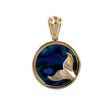 "X"" Dolphin Tail Sea Opal Pendant (Needs Pricing) - Lone Palm Jewelry"