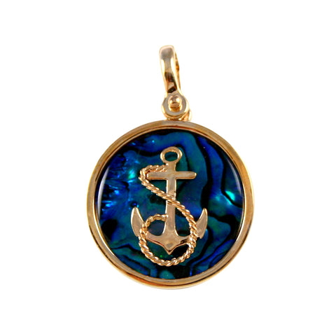 Fouled Anchor Sea Opal Pendant (Needs Pricing) - Lone Palm Jewelry