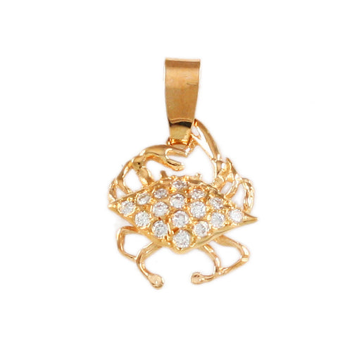 "5/8"" Crab Pendant with Diamonds - Lone Palm Jewelry"