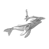 "15382 - 1 5/8"" Solid Mother and Baby Humpback Whale Charm"