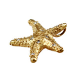 "1"" Starfish Pendant with Diamonds & Hidden Bail - Lone Palm Jewelry"