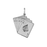 15486 - Royal Flush Hand of Cards Charm