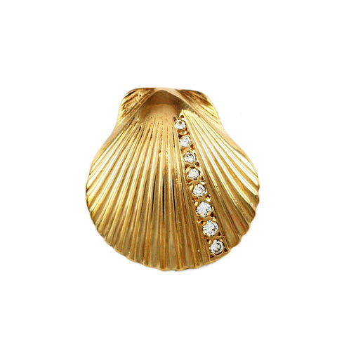 "7/8"" Scallop Shell with Enhancer Bail - Lone Palm Jewelry"