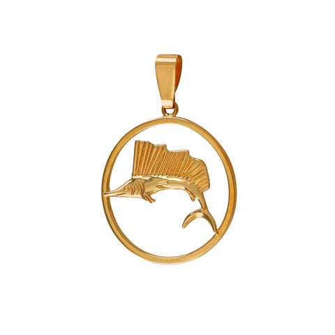 "15607 - 1"" Sailfish Pendant in Frame"