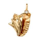 "1 1/4"" Conch Pendant with Diamond - Lone Palm Jewelry"