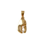 "3/4"" Lobster Claw Pendant with Diamond - Lone Palm Jewelry"