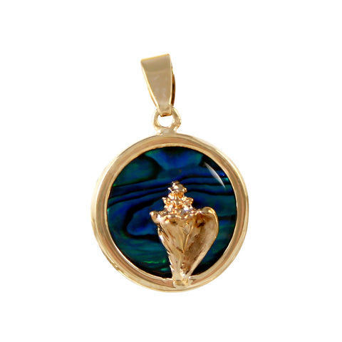 Conch Shell Sea Opal Pendant (Needs Pricing) - Lone Palm Jewelry