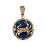 Crab Sea Opal Pendant (Needs Pricing) - Lone Palm Jewelry