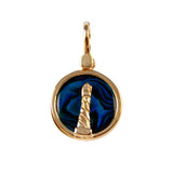 Lighthouse Sea Opal Pendant (Needs Pricing) - Lone Palm Jewelry