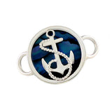 Fouled Anchor & Blue Sea Opal PopTop - Lone Palm Jewelry