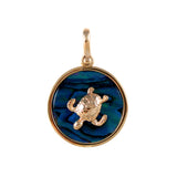 "X"" Sea Turtle Sea Opal Pendant (Needs Pricing) - Lone Palm Jewelry"