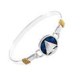 Sailboat & Blue Sea Opal PopTop - Lone Palm Jewelry