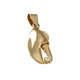 "1"" Lobster Claw Holding a Diamond - Lone Palm Jewelry"