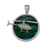 "15971 - 1 1/8"" Helicopter Sea Opal Pendant"