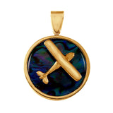 "15986 - 1"" Cessna High Wing Sea Opal Pendant"