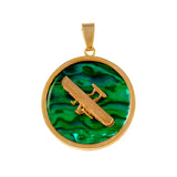 "15991 - 3/4"" Wright Flyer Sea Opal Pendant"