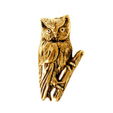 "16078 - 1 1/8"" Hollow Owl Pendant with Hidden Bail"