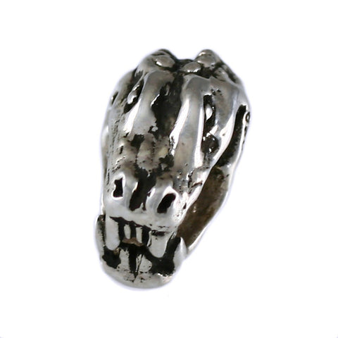Chomping Gator Head Bead - Lone Palm Jewelry