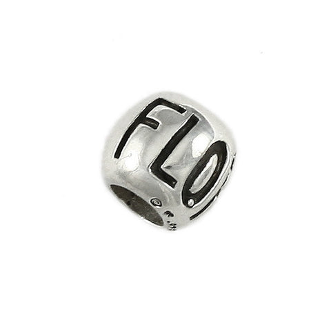 FLORIDA Engraved Bead - Lone Palm Jewelry