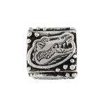 Gator Head Logo Cube Bead - Lone Palm Jewelry