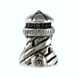 Striped Lighthouse Bead - Lone Palm Jewelry