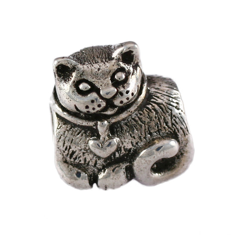 Curled-Up Cat Bead - Lone Palm Jewelry