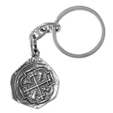 "Atocha Silver 1 1/4"" Replica Spanish Coin Key Chain - Item #18012"