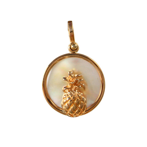 Pineapple Sea Opal Pendant (Needs Pricing) - Lone Palm Jewelry