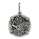 "Shipwreck Atocha Silver 1"" Replica Coin Pendant with Shackle Bail - Item #18215"