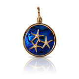 Starfish Trio Sea Opal Pendant with Diamonds (Needs Pricing) - Lone Palm Jewelry