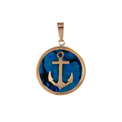 Anchor Sea Opal Pendant (Needs Pricing) - Lone Palm Jewelry
