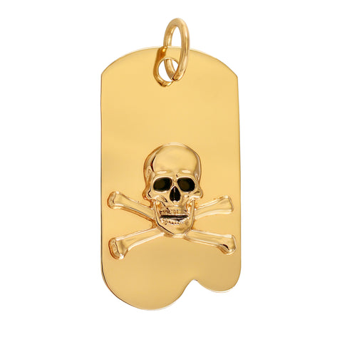 18324 - Pirate Skull and Crossbones Army Tag Charm