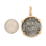 "1 1/2"" Replica 4 Reales Atocha Pendant with Shackle Bail - Item #18340 - Lone Palm Jewelry"