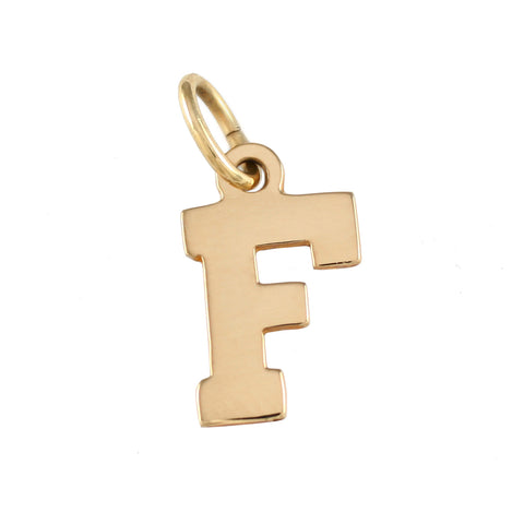18380 - F Letter Charm - Lone Palm Jewelry