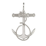 "18419 - 2"" Fouled Anchor with Textured Crossbeam - Lone Palm Jewelry"