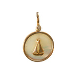 "X"" Sailboat Sea Opal Pendant (Needs Pricing) - Lone Palm Jewelry"