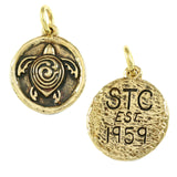 "1 1/2"" Bronze STC Symbol with Initials & Date on Back - Lone Palm Jewelry"