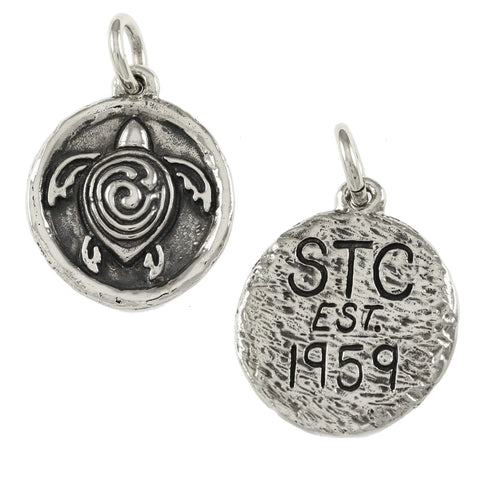 "1 1/2"" Sterling STC Symbol with Initials & Date on Back - Lone Palm Jewelry"