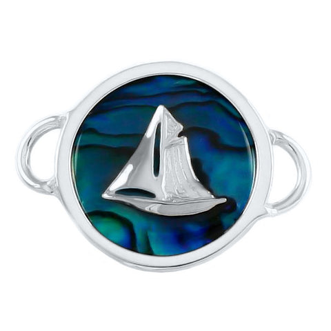 Sailboat on Sea Opal PopTop - Lone Palm Jewelry
